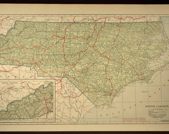 North Carolina Map LARGE North Carolina Road Map Highway