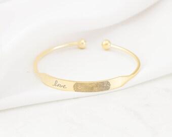 30% OFF! Fingerprint Jewelry • Fingerprint Memorial Bracelet • Fingerprints Keepsake Jewelry • Sterling Silver • MOTHER'S GIFT • BM31