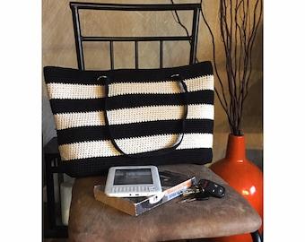 Crochet Bag - Stripes Tote