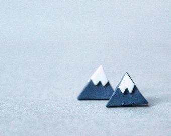Mountain Earrings - Triangle Earrings - Abstract Earrings - Handmade Earrings - Polymer Clay Earrings - Handmade Jewelery - Triangle Studs