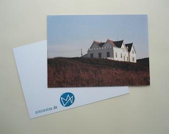 House, eight postcards, postcards, set, minnievoss, Cornwall, analog photography, offset printing house