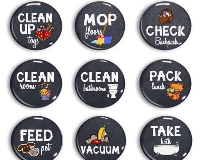 Chore Chart Magnets - Chalkboard Chores - Kids Chores - Family Jobs - Daily Routine - Chore Chart - Family Organization - Chores