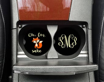 Oh for fox sake, CoWorker Gift, Zero Given Cup Coaster, Car Cup Coaster, Custom Car Coaster, Funny Car Cup (CAR0004)
