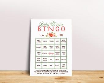 Baby Shower Bingo, Baby Bingo Cards, Baby Bingo Game, Printable Bingo Card,