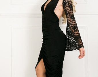 Bell lace removable sleeves. Dress not included