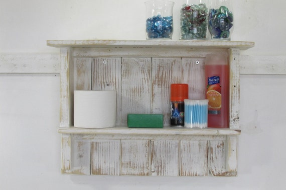 Decorative Bathroom Towel Storage : Bathroom storage towel shelf d?cor rustic