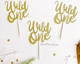 12CT Wild one cupcake toppers, wild one birthday, the wild one theme party