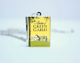 Anne of Green Gables Book Locket Charm by LM Montgomery Jewelry Jewellery Necklace / Bracelet / Keyring / Bookmark / Badge with Library Card