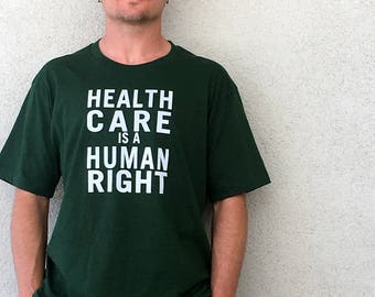 Healthcare Is A Human Right Crew Neck T-Shirt