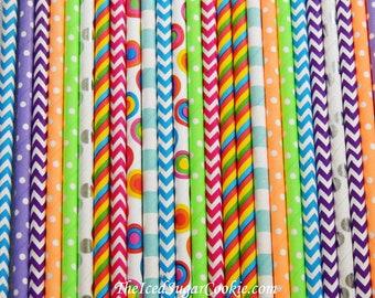 Straws-Paper Straws-Colorful Straws-Rainbow Straws-Straws-Polka Dot Straws-Stripe Straws-Chevron Straws-Drinking Straws-Paper Straws-Straws