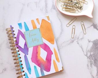 Personalised notebook ~ Bullet journal ~ Writing journal ~ Custom journal ~ Handmade notebook ~ Gift for her ~ Hoard Pretty Things Nameplate