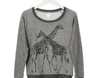Giraffes French Terry Sweatshirt