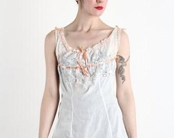 SALE - Antique Lace Ribbon Blouse . White Top . 1910s