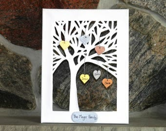 Personalized family tree, Family tree gift,  Personalized family tree gift, Handmade family tree, Anniversary family tree, Standing