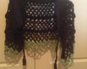 Women's Size 8 Handmade Crochet Cape.