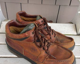 Timberland Tan Leather / Gore-Tex Lined / Oxford / Chukka / Ankle Boots Men's Size 10 / made in Portugal