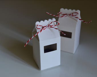 10 Milk Cartons Boxes - White - Handmade - Candy Boxes/Favour Bags/Party Favours/Kids Party/Wedding Favours/Paper Gift Bags