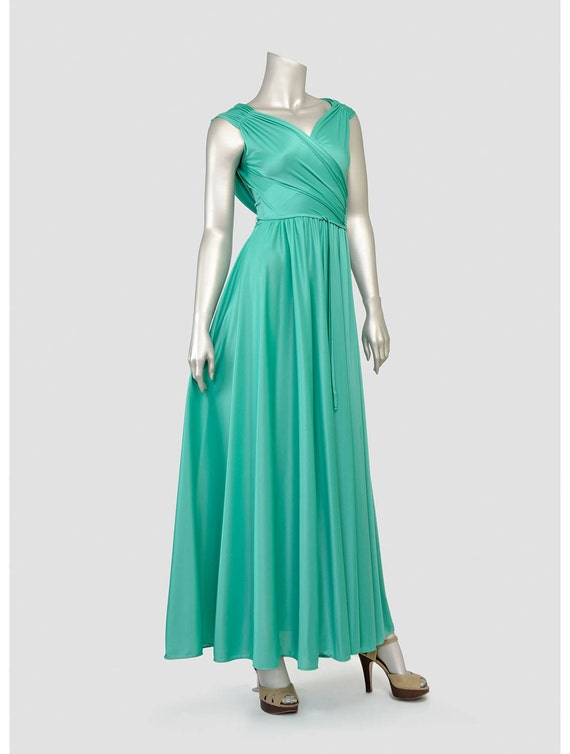 Vintage 70er Jahre Abendkleid der 1970er Jahre Maxi Kleid