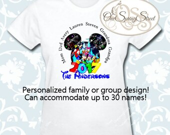 DISNEY Iron On Transfer Mickey Minnie 2016 Matching Family Vacation Trip PERSONALIZED Group Reunion Party  Printable Digital # 1847