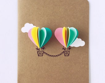 heart air balloons card air balloon card pink 4652