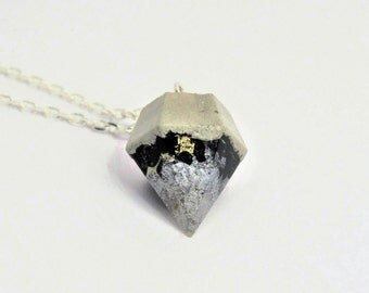 Necklace concrete diamond * magic touched * no 4 - unique - gift -.