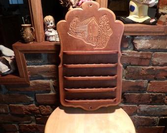 Vintage Thimble display, wooden thimble display, ornate thimble display