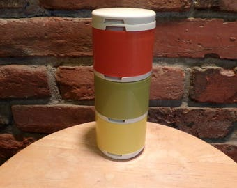 Tupperware Spice Containers, Stacking spice containers, camping spice containers, 1970's Tupperware, Vintage Tupperware