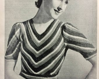 The Pictorial Guide to Modern Home Knitting by Catherine Franks 1939 Odhams Press vintage pattern book knitting crochet
