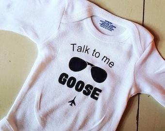 Talk To Me Goose Onesie
