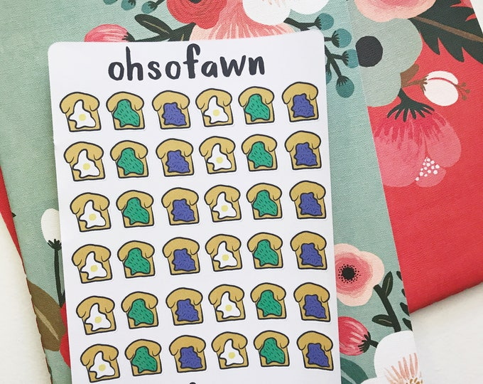Hand Drawn Toast Stickers