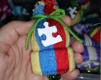 Autism Awareness - Mini Hat Ornaments