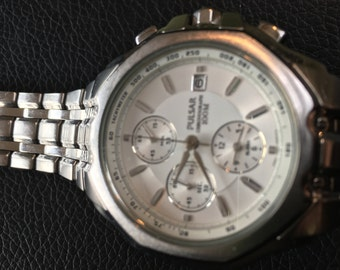 Lovely Pulsar Chronograph Watch