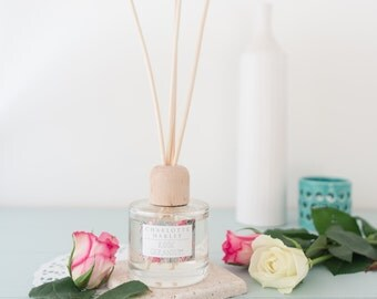 Rose Geranium Reed Diffuser, Home Fragrance, Essential Oils