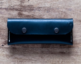 Personalized Leather Snap Pen Pouch,Gift For Him,Pen Case,Pen Holder,Pencil Case,Leather Pen Case,Mens Gift