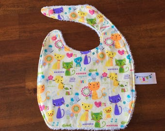 NEW*** baby bib very absorbant for 0-6 months old CAT and FLOWER Cotton Terry cloth baby gift baby shower gift