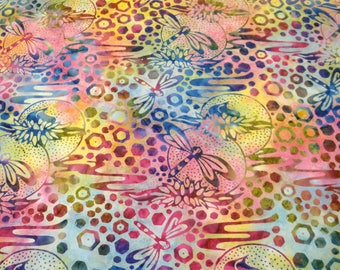 Batik Cotton Fabric - Dragonfly