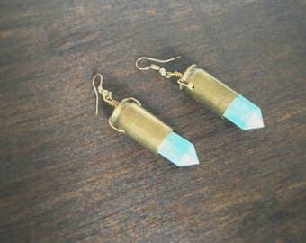 Turquiose bullet earrings