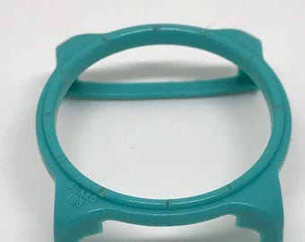 Vintage Swatch Guard Too. LARGE. Turquoise blue.