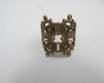 Ornate Brass Filigree Ring