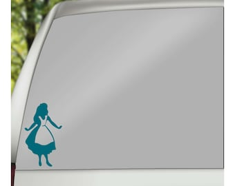 Alice In Wonderland Car Decal, Wall Decal, Yeti Decal,