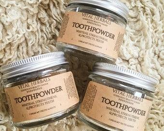 Tooth Powder - teeth whitening - charcoal toothpaste - vegan toothpaste - natural toothpaste - organic tooth powder - tooth health
