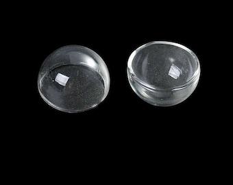 2 half Globes 25mm diameter for ears or rings earrings