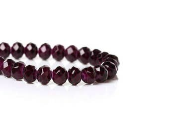 100 beads dark violets 4mm crystal glass faceted