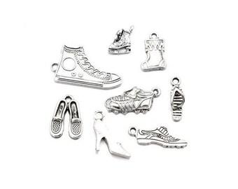 40 charms shoes silver Matt