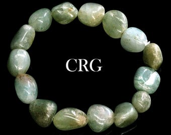 Classic Tumbled 10-15mm Green Aventurine Beads Stretch Bracelet (BR63DG)