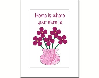 Personalised Mother's Day Map Prints