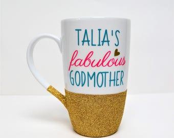 Godmother Coffee Mug // Gift for Godmother // Godmother Gift // Fabulous Godmother Mug // Godmother Cup  //  Godmother gift under 20