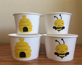 Bee Party Snack Cups, Bee Birthday Snack Cups, Bumbleebee party, Bee shower
