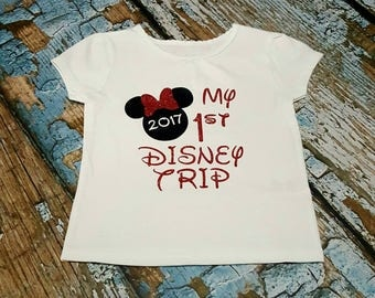 My first Disney trip shirt, Disney Vacation shirt, Minnie Mouse shirt, Disney shirt, my first Disney trip, 1st Disney trip shirt