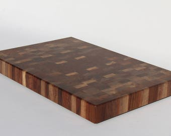 Black Walnut Butcher Block, Cutting board, End grain cutting board, Walnut cutting board, Black walnut end grain butcher block #146
